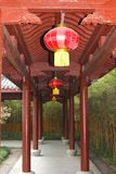 Gallery in the Confucian Lingyin temple, Hangzhou, China Royalty Free Stock Image