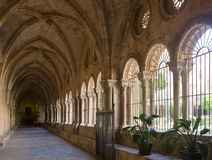Gallery of courtyard of Tarragona Cathedral Stock Photo