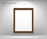 Gallery with empty frame Royalty Free Stock Image