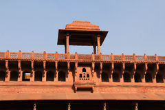 Gallery at entrance of Agra Fort Royalty Free Stock Images