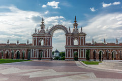 Gallery Fence with Gate in the Tsaritsyno park Stock Photography