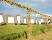 Gallery in the field Stock Photo
