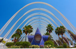 Gallery Garden in The city of Arts and Sciences, Valencia Stock Image