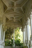 Gallery garden in Quinta da Regaleira Royalty Free Stock Photo