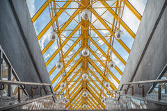 Gallery with glass ceiling Royalty Free Stock Image
