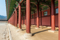 The Gallery of Gyeongbokgung Palace Royalty Free Stock Photography