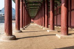 The Gallery of Gyeongbokgung Palace Royalty Free Stock Photos