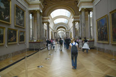 Gallery Hallway at the Louvre Museum, Paris, France Stock Images