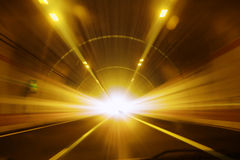 Gallery - high speed - tunnel Stock Photo