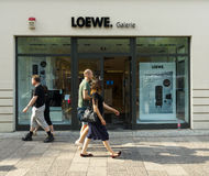 Gallery of home electronics firm Loewe on the Kurfurstendamm. BERLIN - AUGUST 03: Gallery of home electronics firm Loewe on the Kurfurstendamm. Loewe AG is the Stock Image