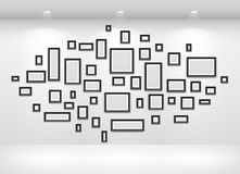 Gallery Interior with empty Stock Image