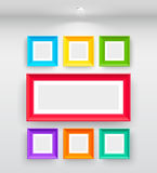 Gallery Interior with empty colorful Royalty Free Stock Images