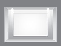 Gallery Interior with empty frame Stock Photography