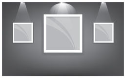 Gallery Interior with empty shelf on wall 02 Stock Photography