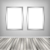 Gallery interior with two empty Royalty Free Stock Photography