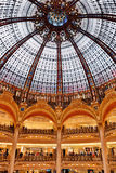 Gallery Lafayette. Dome of the building Gallery Lafayette stock image