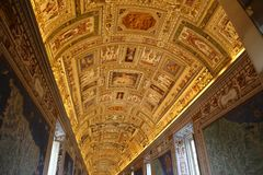 The Gallery of Maps in The Vatican stock image