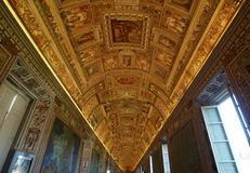 Gallery of Maps. Vatican Museums. The Vatican Museums originated as a group of sculptures collected by Pope Julius II (1503-1513) and placed in what today is the Royalty Free Stock Image