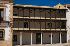 Gallery of Mayor Square from Tembleque, Spain Stock Images