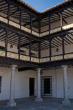 Gallery of Mayor Square from Tembleque, Spain Royalty Free Stock Images
