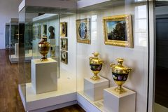 Gallery in a museum royalty free stock photography