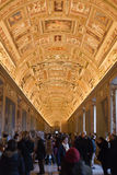 Gallery in Papal Palace in Vatican Stock Photo