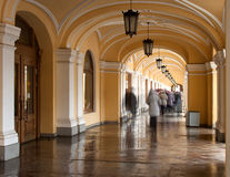 Saint-Petersburg: Gallery Passage Crowd Royalty Free Stock Image