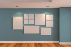 Gallery The picture on the blue wall Stock Photography