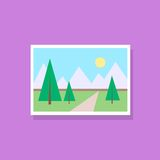 Gallery picture flat design icon vector Royalty Free Stock Photography