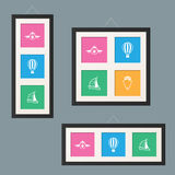 Gallery Picture Frames Stock Image