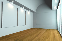 Gallery The picture white wall Royalty Free Stock Images