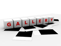 Gallery with pictures Royalty Free Stock Photography