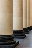 Gallery  of pillars Royalty Free Stock Image