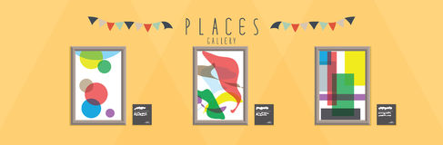 Gallery (Places). Vector illustration of a gallery Stock Images