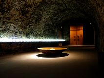 Entering the wine cellar Royalty Free Stock Images
