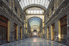Gallery Principe di Napoli. The Gallery Principe di Napoli was built originally as a commercial center but since its reopening in 2009 it houses private and Royalty Free Stock Photos