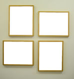 Gallery room with empty frames Royalty Free Stock Photo