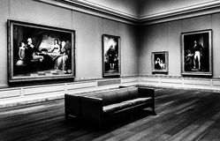 Gallery room in the National Gallery of Art, Washington, DC. Royalty Free Stock Image