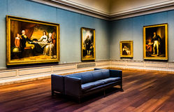 Gallery room in the National Gallery of Art, Washington, DC. Royalty Free Stock Photo