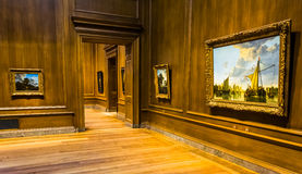 Gallery room in the National Gallery of Art, Washington, DC. Royalty Free Stock Photos