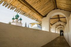Gallery of the Rostov Kremlin, Russia Stock Image