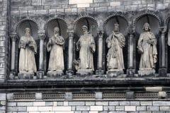 Gallery of saints, Prague. Gallery of saints (sainthood, cloud of saints) with attributes of divine revelation. Prague stock photo
