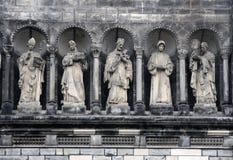 Gallery of saints, Prague. Gallery of saints (sainthood, cloud of saints) with attributes of divine revelation. Prague royalty free stock image