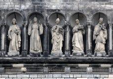 Gallery of saints, Prague. Gallery of saints (sainthood, cloud of saints) with attributes of divine revelation. Prague stock photography