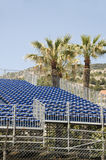 Gallery seating stands for race Monaco Monte Carlo Stock Photo