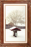 Gallery serie - Snowing day Royalty Free Stock Photography
