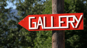 Gallery sign Stock Photo