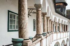 Gallery with some columns. In Castle Orth, Upper Austria Royalty Free Stock Photography