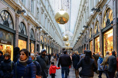 Gallery St. Hubert decorated for Christmas celebrations Royalty Free Stock Images