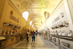 A Gallery of Statue and sculpture in Vatican Museum Royalty Free Stock Photos